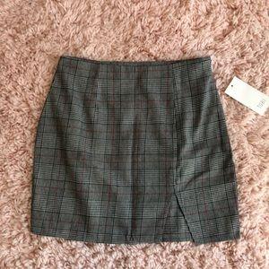 Plaid Mini Skirt from Tobi